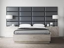 Leather Headboard Platform Bed Bedroom Black Faux Leather Wall Mounted Headboard Platform Bed