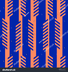 orange and blue combination abstract geometric seamless pattern orange blue stock vector