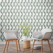 tropical trellis geometric avocado wallpaper by surface house
