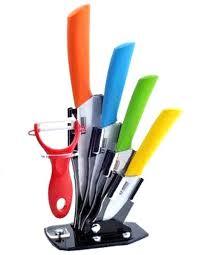 ceramic kitchen knives set 5 ceramic knife set with holder lazada malaysia