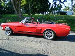Black Mustang Shelby 1966 Ford Mustang Shelby Clone Convertible A C Red Red Black Power
