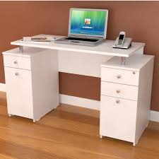 modern white computer desk inval computer desk es 3203