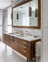 Pendant Lights In Bathroom by An Eco Friendly Apartment In New York City Vintage Bathrooms