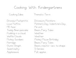 cooking ideas kindergarten nana
