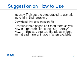suggestion on how to use ppt