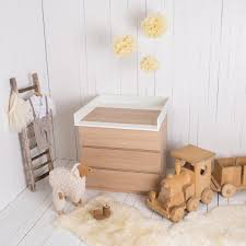 White Wood Changing Table Changing Unit For Ikea Malm Dresser New White