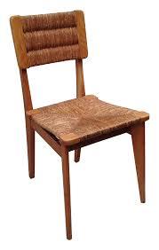 meubles design vintage 6 vintage chairs in straw marcel gascoin 1950s design market
