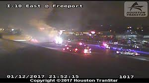 Houston Transtar Traffic Map I 10 Shut Down At Freeport Boulevard Due To Vehicle Fire Abc13 Com