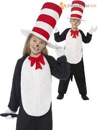 Kids Cat Halloween Costume Kids Cat Hat Costume Dr Seuss 1 2 Girls Boys Fancy