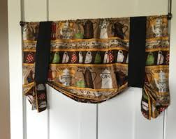 Tie Up Valance Curtains Tie Up Valances Etsy