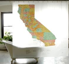 Shower Curtain Map 100 Peva California State Map Shower Curtain