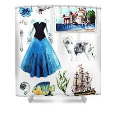 The Little Mermaid Shower Curtain Disney Princess Shower Curtains Fine Art America