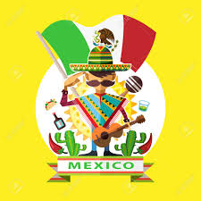 Mexico Flag Symbol Illustration Of Mexican Man Mariachi Salute To Mexico National