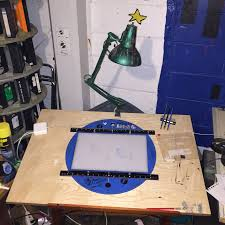 glass drafting table with light an example of a used alan gordon animation drafting table with
