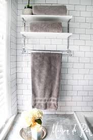 creative bathroom towel storage home design by john