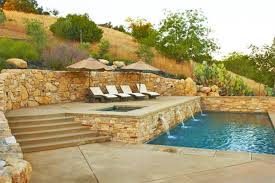 Backyard Designs With Pool How To Build A Pool What To Do With A Sloped Backyardspp Inground
