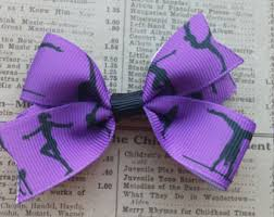 ribbon for hair that says gymnastics gymnastics hair bow etsy