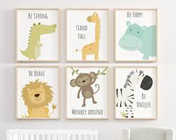 animal nursery decor etsy