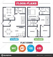 Icon Condo Floor Plan by Floor Plans Icon U2014 Stock Vector Blankstock 141378974