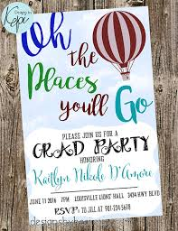 grad invite dr seuss oh the places you ll go graduation
