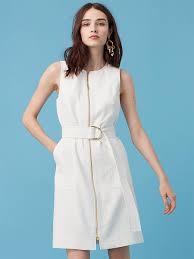white dresses dvf