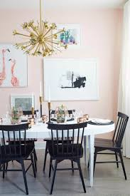 dining room with pastel wall color and painting wall arts pastel