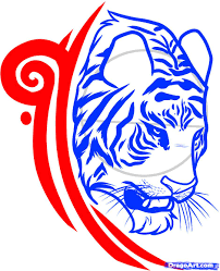 how to draw a tiger design tiger design by