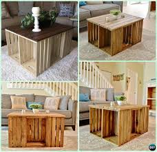 Free Wood Coffee Table Plans by Diy Wood Crate Coffee Table Free Plans Picture Instructions