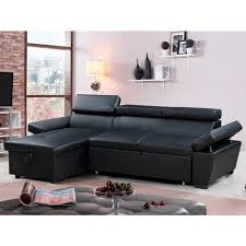 canapé d angle gauche canapé d angle convertible et réversible aldo 4 places noir