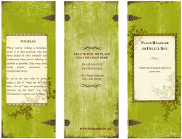 tri fold invitation template weathered tri fold brochure template for pages free iwork templates