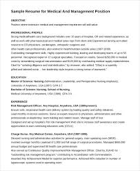 Sample Resume Management Position by Nurse Resume 11 Free Word Pdf Documents Download Free