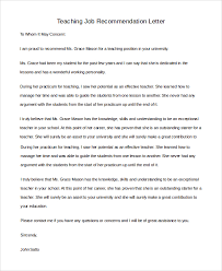 sample teacher letter of recommendation 8 examples in pdf word