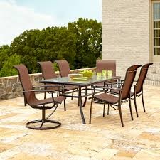 Outdoor Furniture At Sears by Garden Oasis Harrison 7 Piece Dining Set In Copper Red Sears