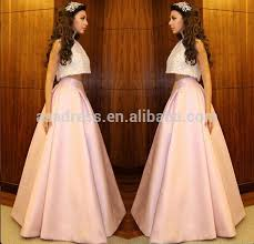 mf18 fashion myriam fares arabic two piece set ball gown prom