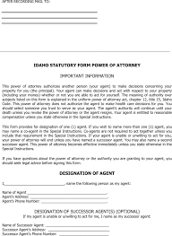 download idaho statutory power of attorney form for free tidyform
