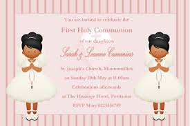 Holy Communion Invitation Cards Samples Personalised First Communion Invitations Twins New Design 2