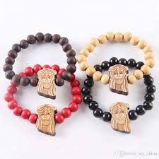 religious bracelet 2017 hip hop wood bracelets jesus hiphop bracelet