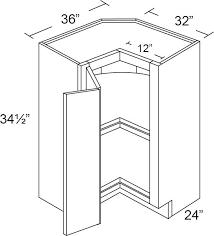 kitchen base cabinet plans free fabuwood nexus 36w lazy susan base cabinet