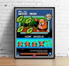 mega man poster nintendo art video game poster classic game