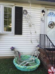 skeleton spider halloween decoration trick or treat scary house