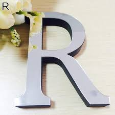 wedding english love letters home decor 3d mirror wall stickers