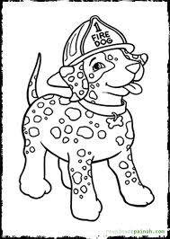 fire dog wearing firefighter helmet coloring pages fire dog fire