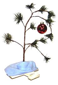 linus christmas tree productworks 18 inch peanuts brown christmas