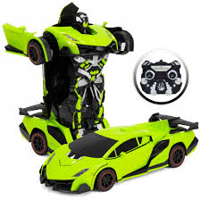 lamborghini transformer kids toy transformer rc car green u2013 best choice products