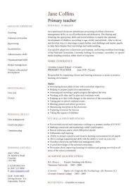 teacher sample resume sample resume for teacher job application