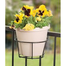 amazon com panancea 89045 over the rail flower pot holder 8 inch