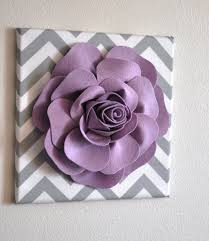 Wall Flower Decor by Wall Flower Decor Lilac Rose On Gray And White Chevron 12 X12