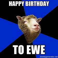 Happy Birthday Meme Creator - happy birthday to ewe supernatural fandom sheep meme generator