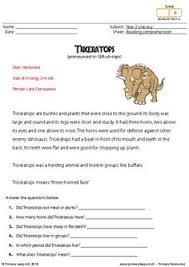 primaryleap co uk reading comprehension tyrannosaurus rex read