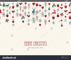merry christmas hanging decoration elements baubles stock vector